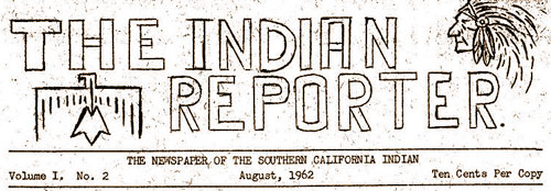 INDIAN REPORTER NAMEPLATE FLAG MASTHEAD